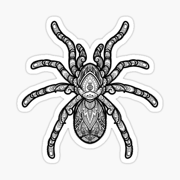 Ornate Tarantula Sticker