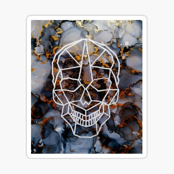 Totenkopf Skull alcohol ink Sticker