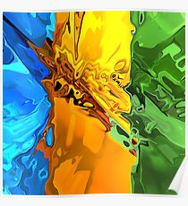 Blend of Bright Colors Poster