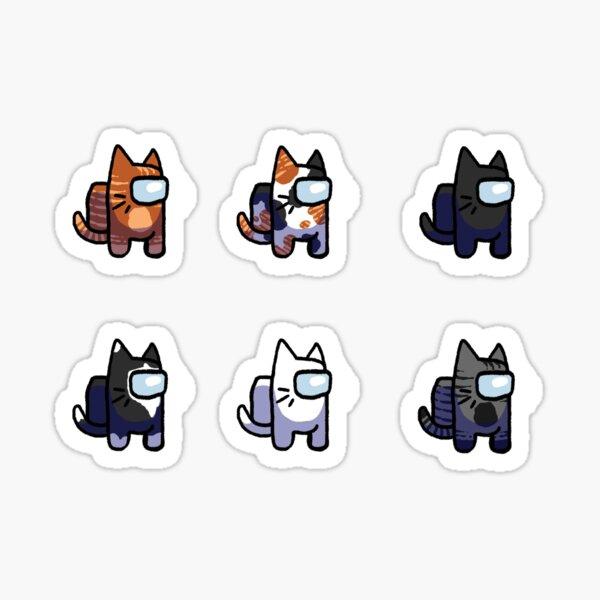 Sus gatos expulsados Pegatina