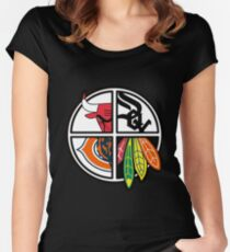 Chicago - Dedicated To All Chicago Sport Teams Lovers Women's Fitted Scoop T-Shirt