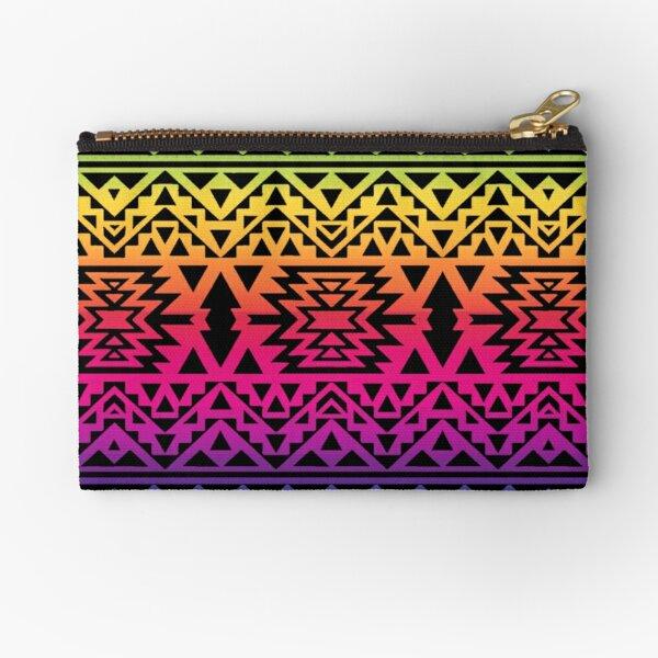 Rainbow Geometric Native American Art Print  Zipper Pouch