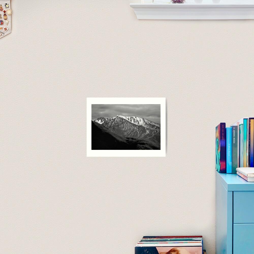 Mountains over Windwhistle, New Zealand Art Print