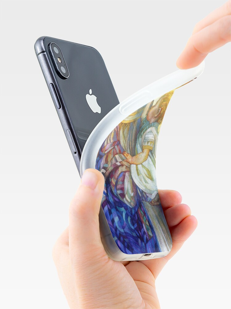 Alternate view of the madam of oriental persimmon with cherub iPhone Case & Cover