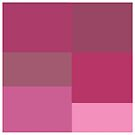 Pink squares design  by kreativekate