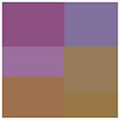 Purple and Gold squares design  by kreativekate