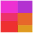 Bright colors squares design  by kreativekate