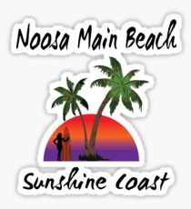 Noosa Main Beach Sunshine Coast Sticker