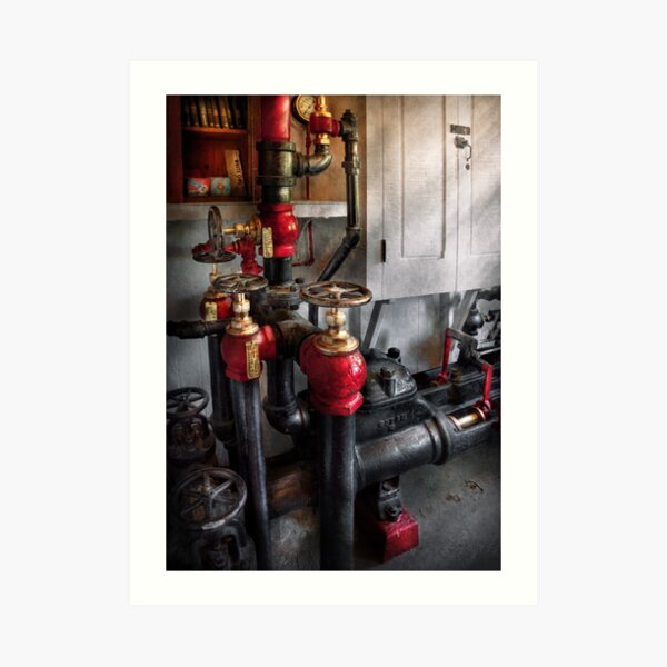 Steampunk - Plumbing - Turn the valve  Art Print