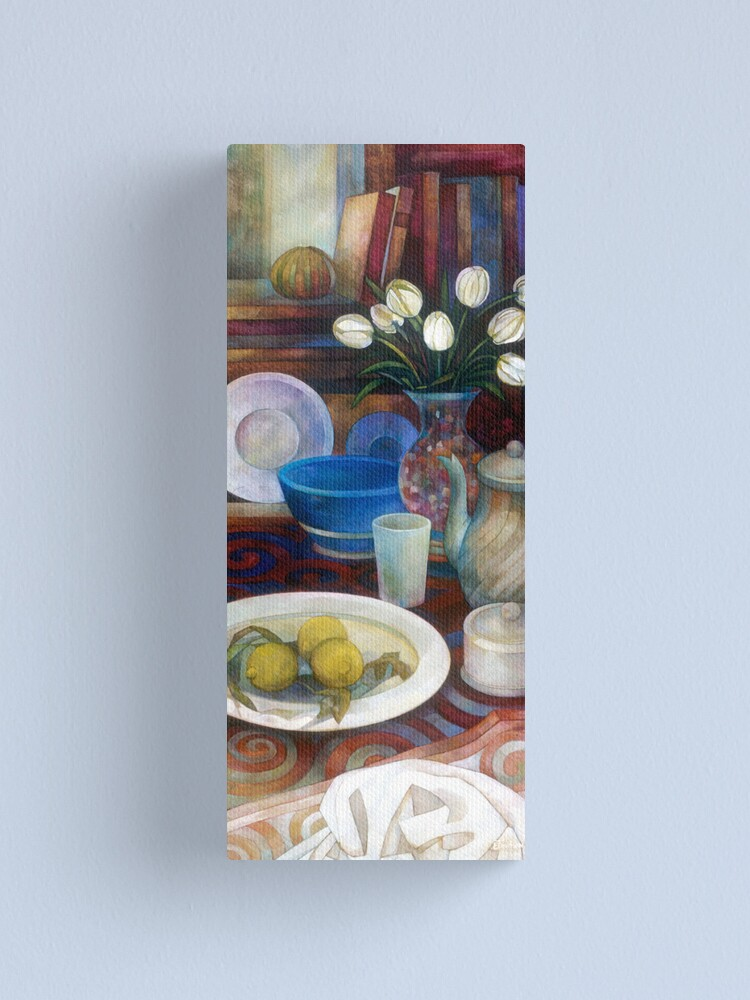 Alternate view of still life with tulips Canvas Print