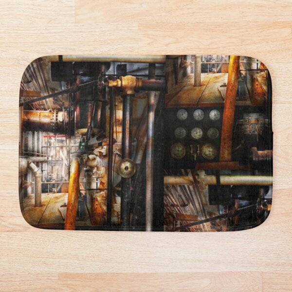 Steampunk - Plumbing - Pipes Bath Mat