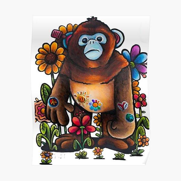 Monkey-Drawin-By-Gawx Poster