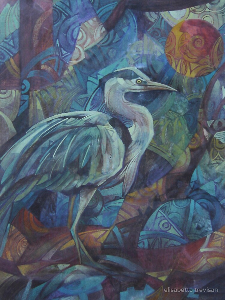grey heron  by betta