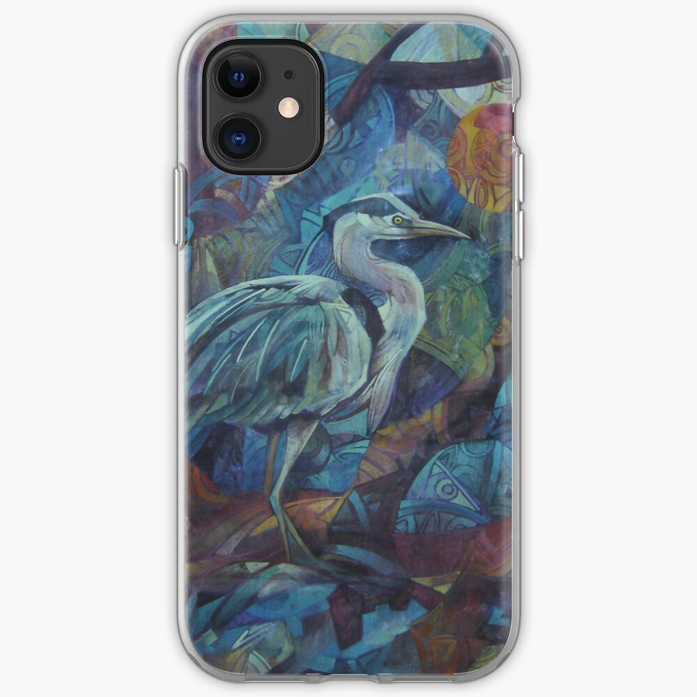 grey heron  iPhone Case & Cover
