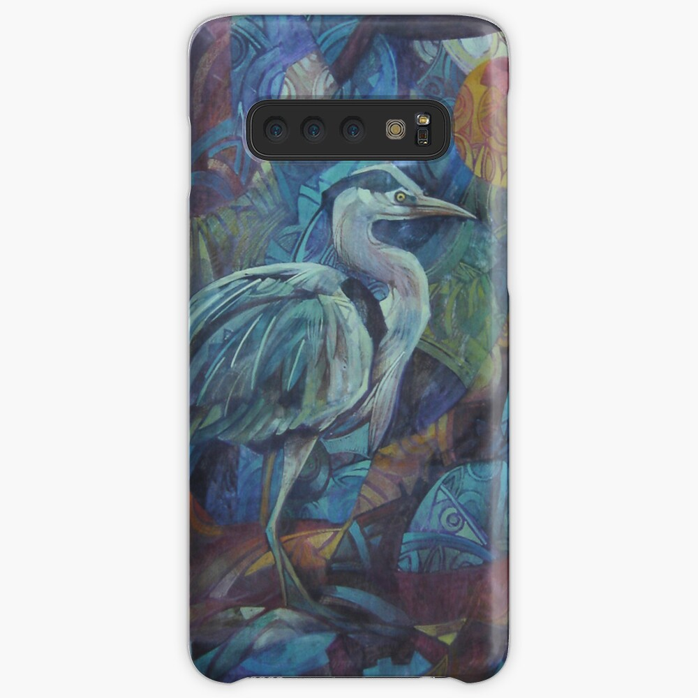 grey heron  Case & Skin for Samsung Galaxy