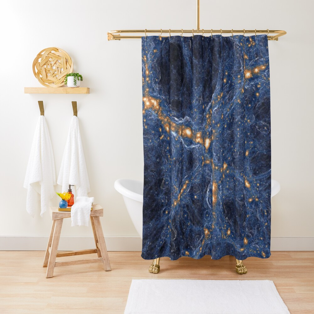 Our Home Supercluster, Laniakea, supercluster of galaxies Shower Curtain