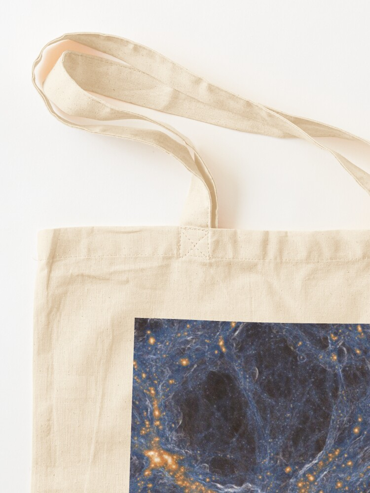 Alternate view of Our Home Supercluster, Laniakea, supercluster of galaxies Tote Bag