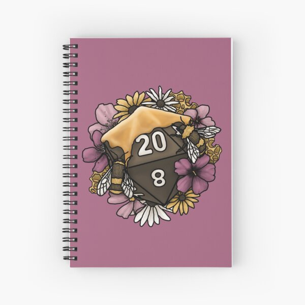 Honeycomb D20 Tabletop RPG Gaming Dice Spiral Notebook