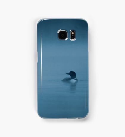 Common loon in blue fog Samsung Galaxy Case/Skin