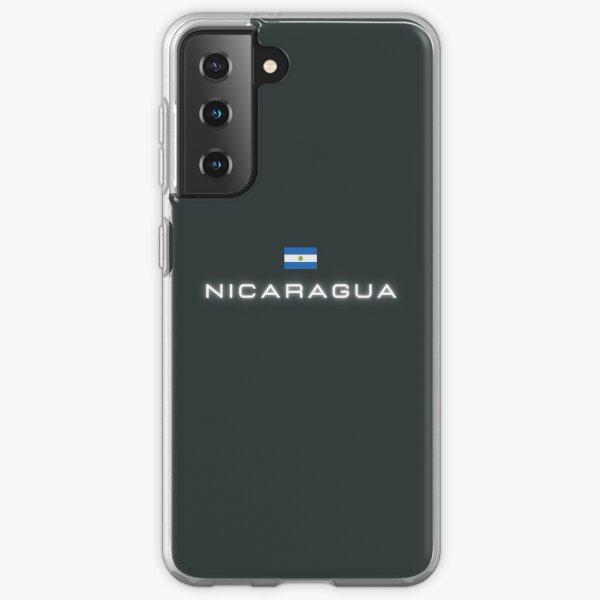 Nicaragua bandera Funda blanda para Samsung Galaxy