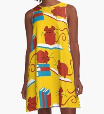 Red Mice A-Line Dress