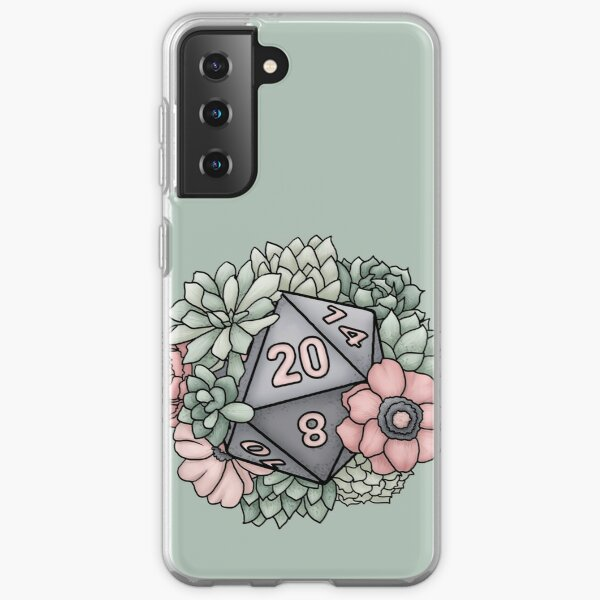 Succulent D20 Tabletop RPG Gaming Dice Samsung Galaxy Soft Case