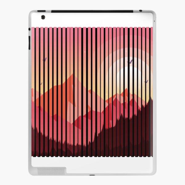 sunset moody, moody mountain, moody , mountain , gift for you  iPad Skin