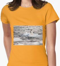 Gentoo penguins (Pygoscelis papua) on Danco Island  Womens Fitted T-Shirt