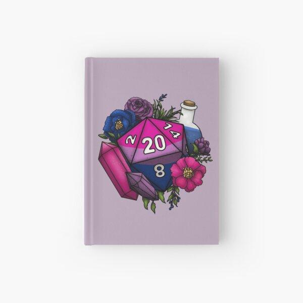 Pride Bisexual D20 Tabletop RPG Gaming Dice Hardcover Journal