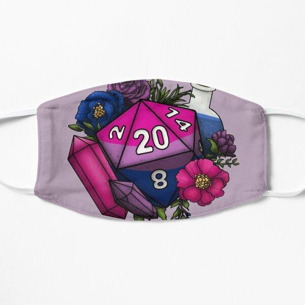 Pride Bisexual D20 Tabletop RPG Gaming Dice Flat Mask