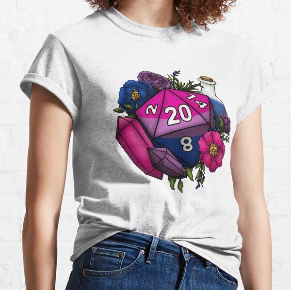 Pride Bisexual D20 Tabletop RPG Gaming Dice Classic T-Shirt