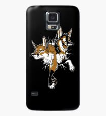 Funda/vinilo para Samsung Galaxy STUCK Foxes (rojo)