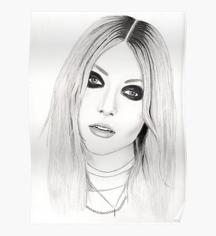 Pretty Reckless Portrait: Posters | Redbubble Taylor Momsen Posters