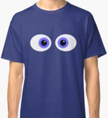 Crossed Eyes Blue Cartoon Classic T-Shirt
