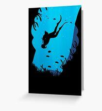 Scuba Diving T Shirt Greeting Card