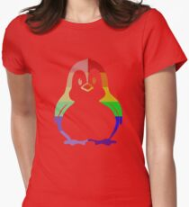 Love U Tees Funny Rainbow Animals Penguin, Bird LGBT Pride Week Swag, Unique Rainbow Gifts Womens Fitted T-Shirt