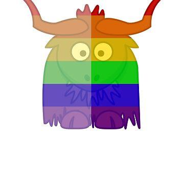 Love U Tees Funny Rainbow Animals Yak LGBT Pride Week Swag, Unique Rainbow Gifts by LoveUTees