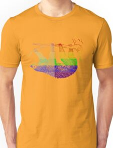 Love U Tees Funny Rainbow Animals Sloth LGBT Pride Week Swag, Unique Rainbow Gifts Unisex T-Shirt