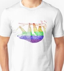 Love U Tees Funny Rainbow Animals Sloth LGBT Pride Week Swag, Unique Rainbow Gifts T-Shirt