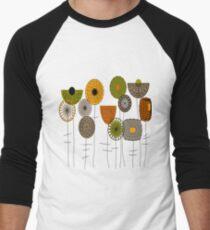 Artsy Autumn Blooms Men's Baseball ¾ T-Shirt