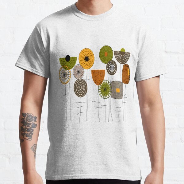 Artsy Autumn Blooms Classic T-Shirt