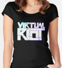 Virtual Riot Merch Women's Fitted Scoop T-Shirt