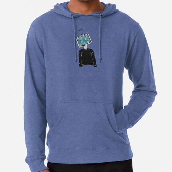 TV Head Lightweight Hoodie