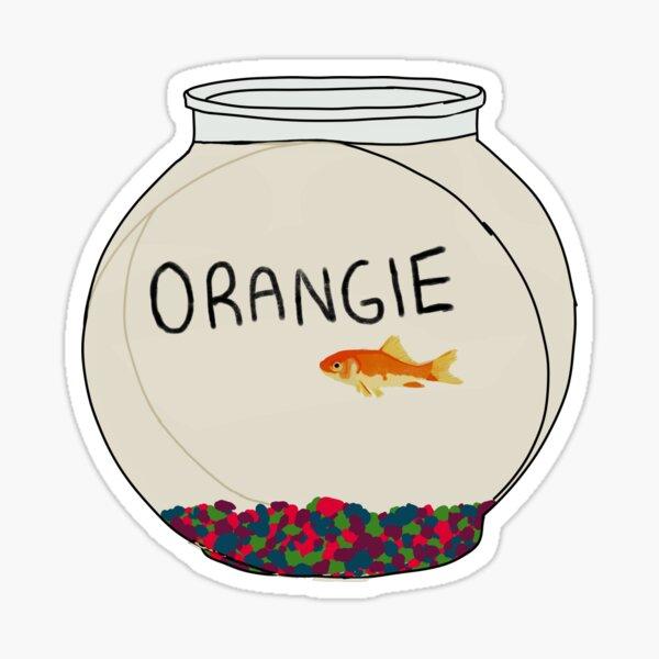 Goldfish, orange 2.0, garçons de parc à roulottes Sticker