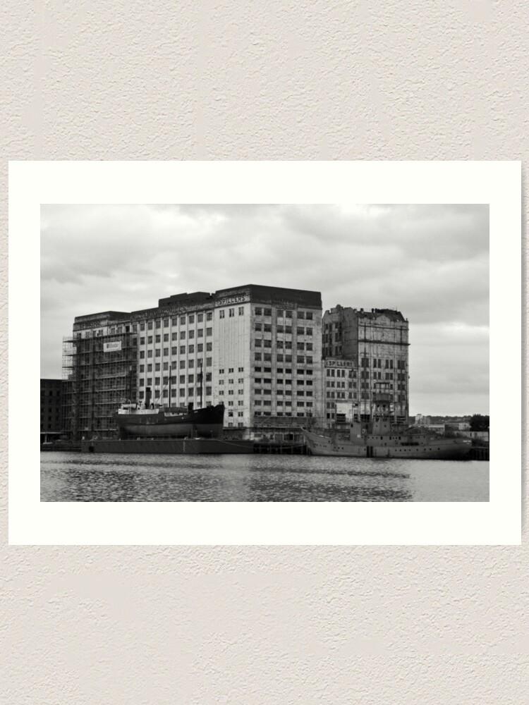 Alternate view of London docks Art Print