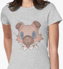 Cute Iwanko / Rockruff Pokemon Women's Fitted T-Shirt