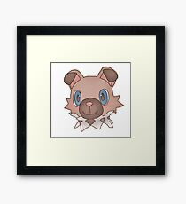 Cute Iwanko / Rockruff Pokemon Framed Print