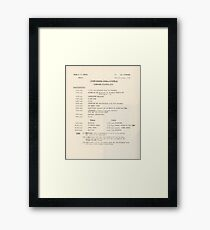 1950s TV Schedule from ABC Framed Print