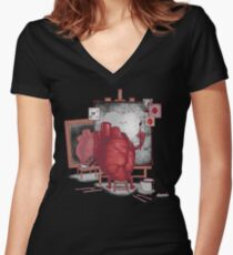 Self Portrait Women's Fitted V-Neck T-Shirt