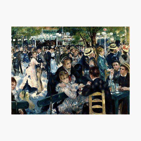 Bal du moulin de la Galette (Dance at Le moulin de la Galette) by Pierre-Auguste Renoir. French impressionist masterpiece painting. Photographic Print